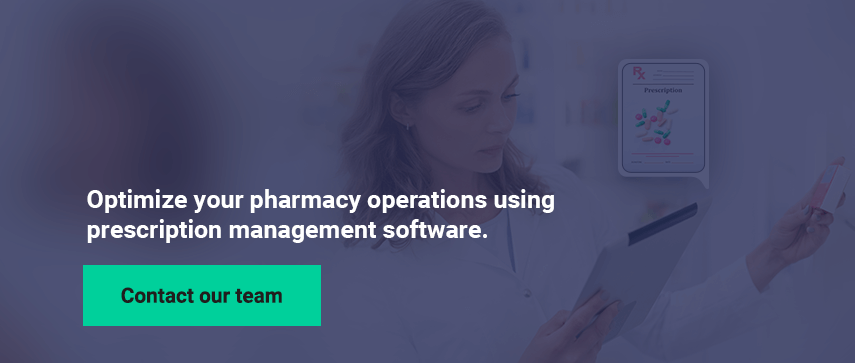 Optimize your pharmacy operations using prescription management software.