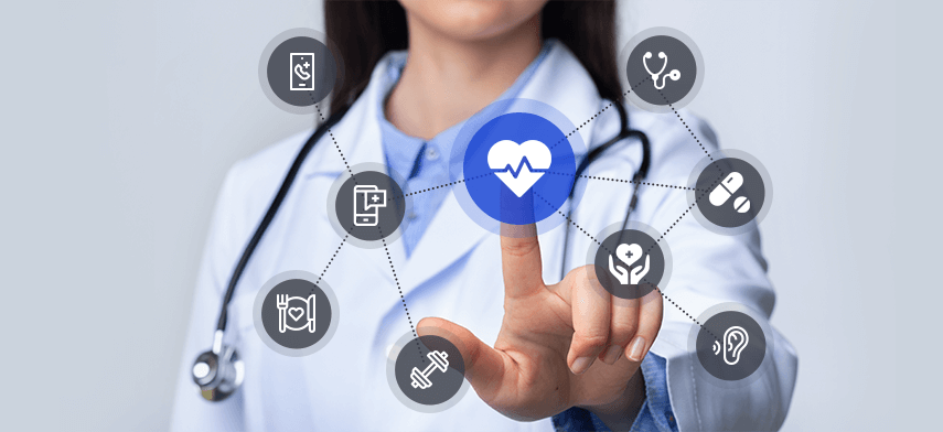 digital self-service options and communications tools for healthcare