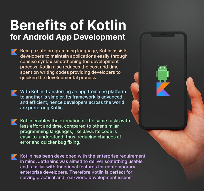 benefits of kotlin for android app development