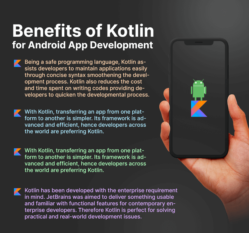 benefits of kotlin for android app development